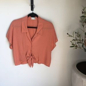 Wilfred Free The Tie-Front Blouse From Aritzia